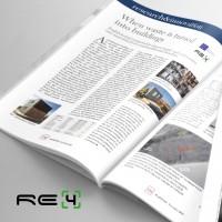 RE4 project in PLATINUM magazine