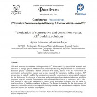 "New publication: ""Valorization of construction and demolition wastes: RE4 building solutions"""